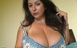 Very busty natalie Fiore on a live webcam chat
